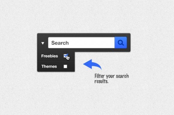 Search box free PSD