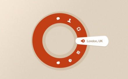 Circular navigation bar free PSD