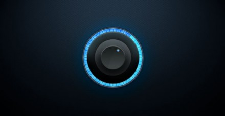 Black glowing knob PSD