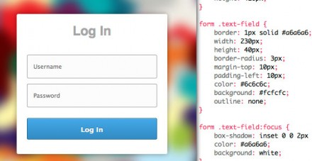 CSS3 login/signup form snippet