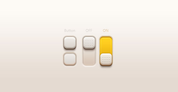 Buttons and switches PSD