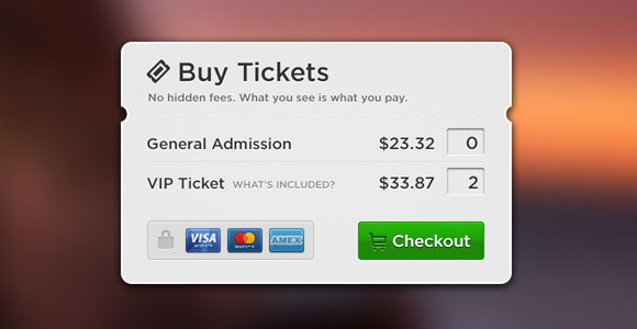 Buy tickets popup free PSD