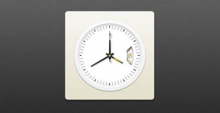 Analog clock with date PSD