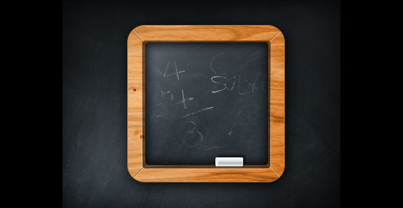 Chalkboard icon free PSD