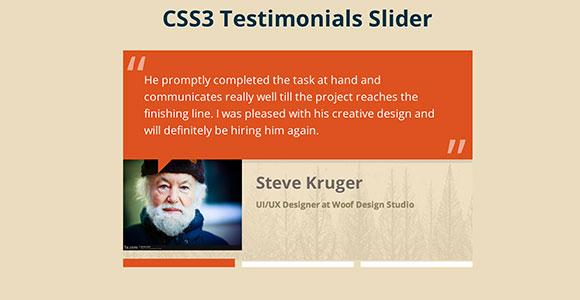 CSS3 Metro testimonial slider