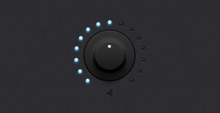 Dark knob light leds PSD