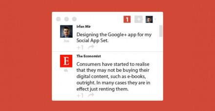 Minimal Google plus widget PSD