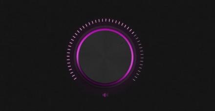 Neon volume knob PSD