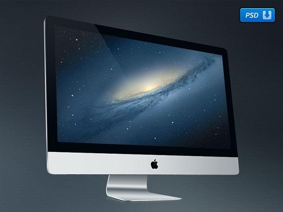 "27"" iMac free PSD mockup"