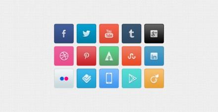 Essential free PSD social icons