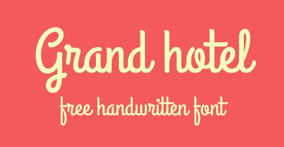 Grand Hotel Font Download