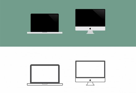 Macbook & iMac big icons PSD