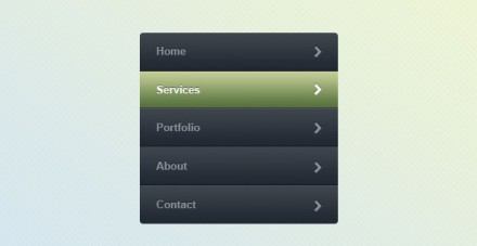 Web menu free PSD