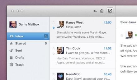 Email app UI PSD