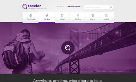 Traveler - free PSD Webdesign