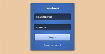 CSS3 Facebook login form