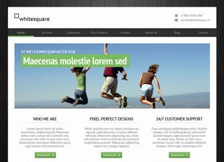 Greenish free PSD website template