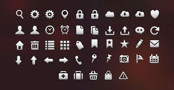 iPhone 5 tab bar free PSD icons