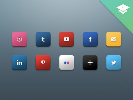 PSD Social media icons by Harkable