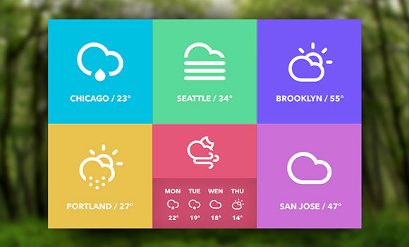 Weather Widget Free Psd