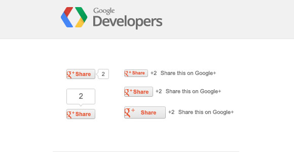 G+ Share buttons PSD