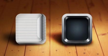 PSD Retina-Ready iOS App Icon Templates