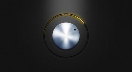 Free PSD metal knob with yellow led lights