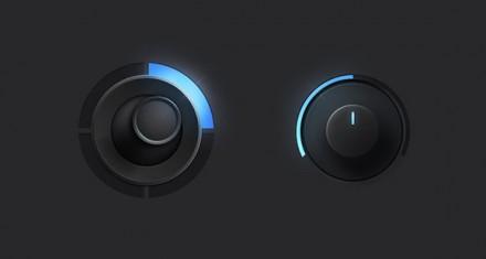 PSD joystick knob controllers