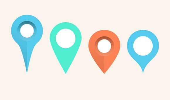 Map pins & markers PSD - Freebiesbug