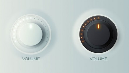 PSD volume knobs