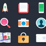 PSD flat icons by Pierre Borodin