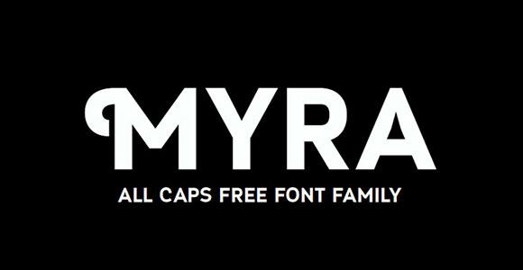 Myra 4F Caps free font