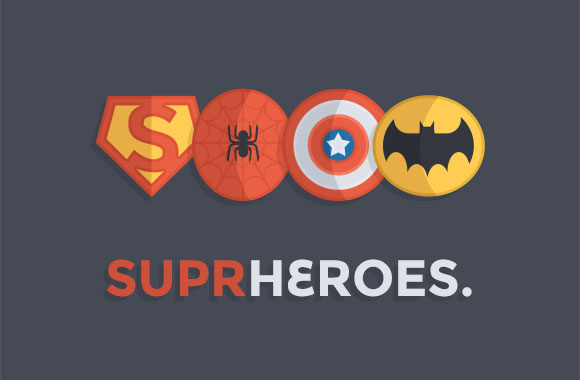 Superheroes badges PSD
