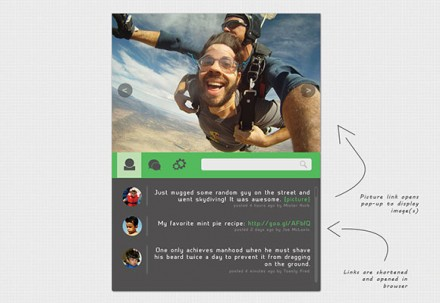 Social feed widget