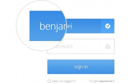 Flat signin form for apps