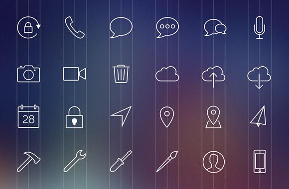 80 iOS7-style line icons