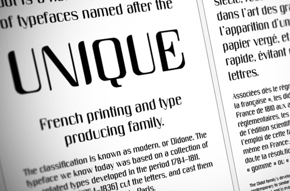 Unique free font