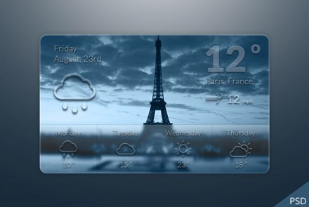 Weather widget freebie