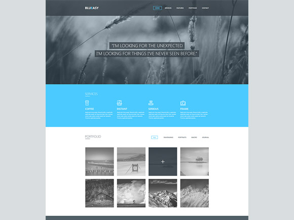 Blueasy - PSD portfolio template
