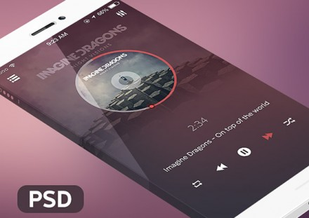 Music app for iOS7