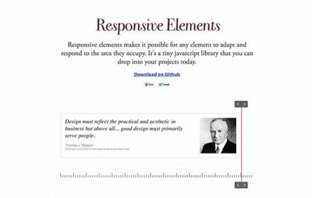 Responsive Elements - JS plugin