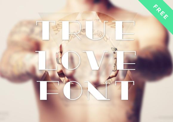 TrueLove free font