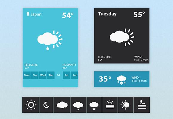 Weather widget UI