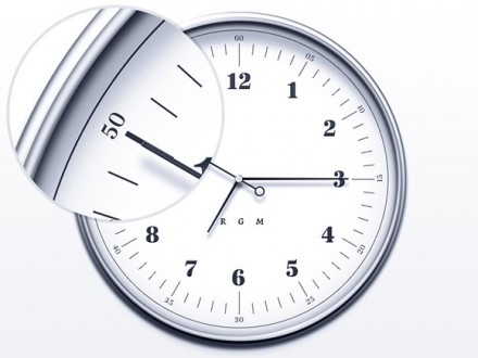 Simple and elegant clock PSD