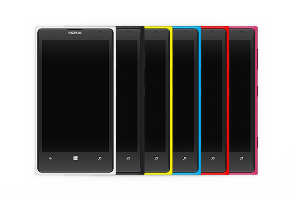 Nokia Lumia 1020 colourful mockups