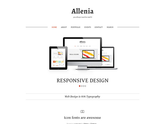 Allenia - PSD website template