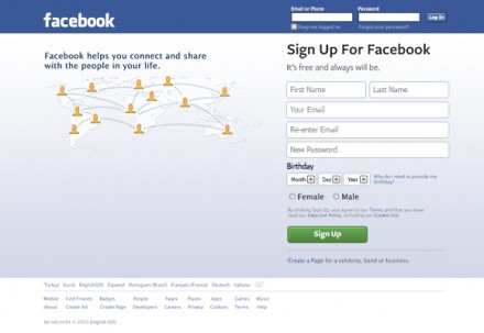 Facebook landing page PSD