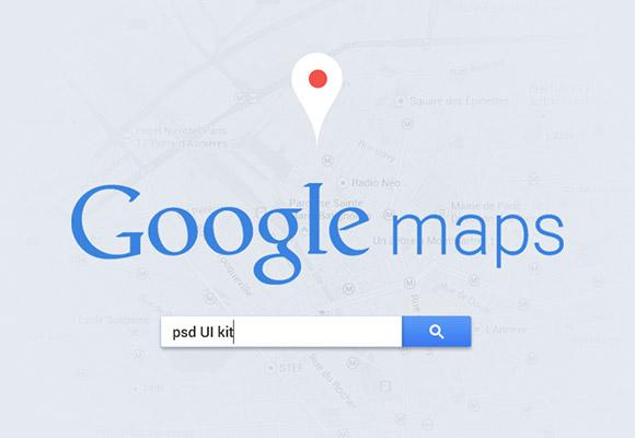 Google Maps UI PSD