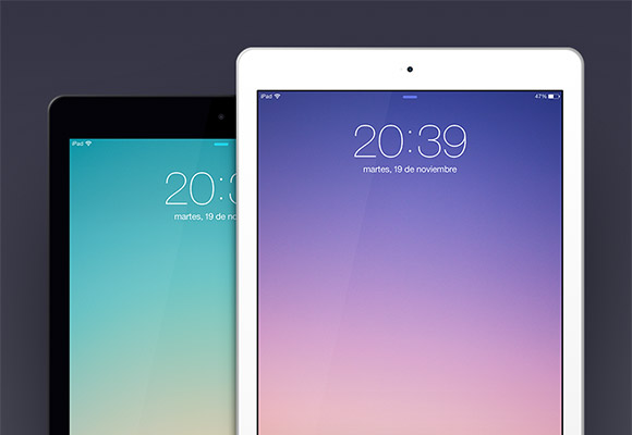 iPad Air PSD template