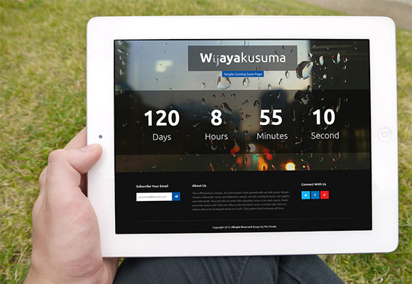 Wijayakusuma - PSD & HTML landing page